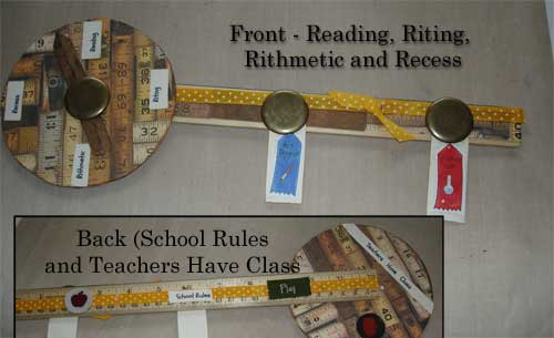 altered ruler with theme school days