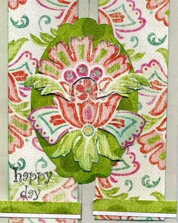 card with floral French design and text reading happy days