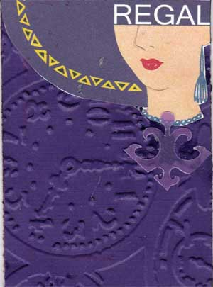 artist trading card with purple colorings