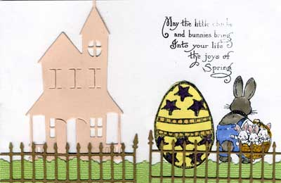 child's easter card