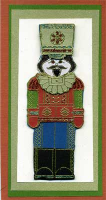 drummer boy card made with Holly Berry House stamp